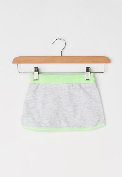 United Colors of Benetton Fusta gri deschis melange cu verde neon Fete