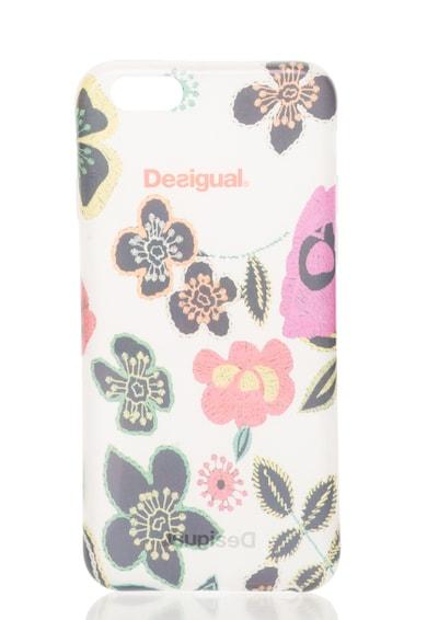 DESIGUAL Carcasa alb transparent cu model floral pentru iPhone 6 Femei