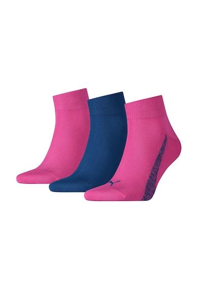 Puma Set de sosete roz cu albastru - 3 perechi Femei