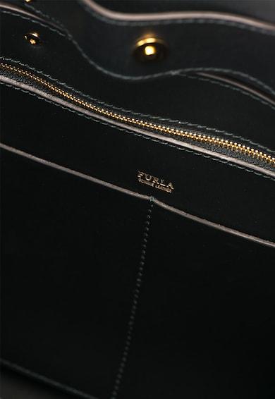 furla Geanta neagra de piele peliculizata cu canafi Aurora Femei