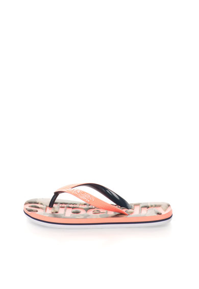 SUPERDRY Papuci flip-flop roz bombon cu negru Classic Femei