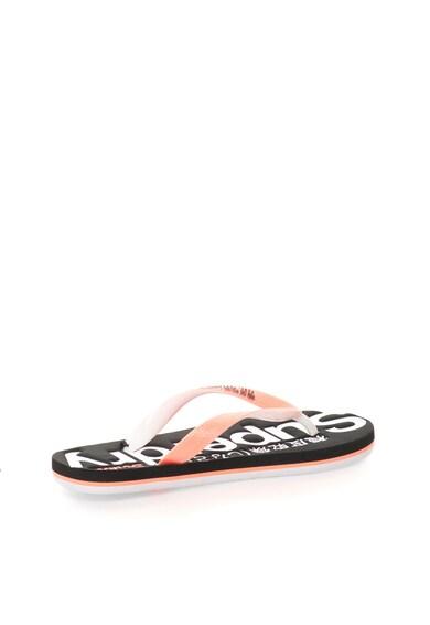 SUPERDRY Papuci flip-flop corai cu alb Scuba Femei