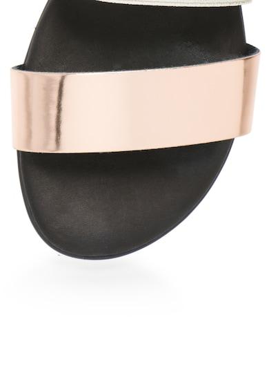 Pollini Sandale slingback roz metalizat cu argintiu Femei