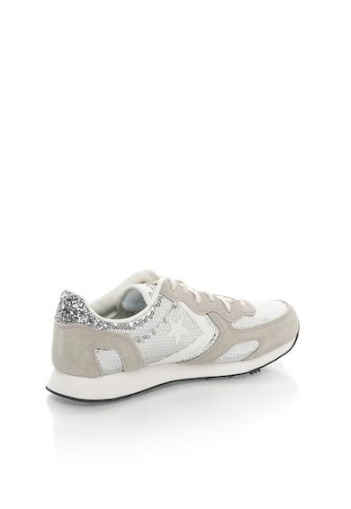Converse Pantofi sport gri si argintiu cu paiete Femei