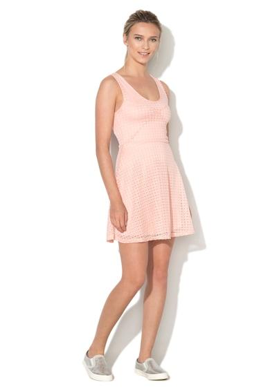 Haily's Rochie skater roz de dantela Hedda Femei