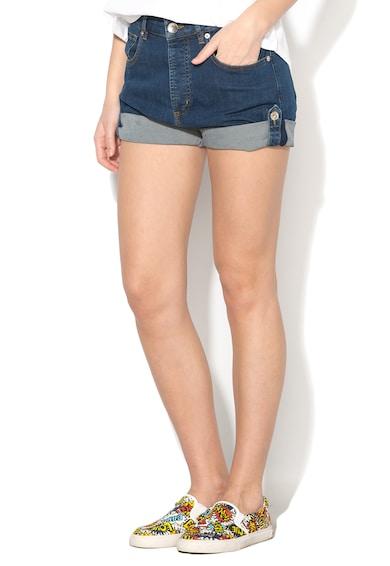 Love Moschino Pantaloni scurti albastru inchis din denim Femei