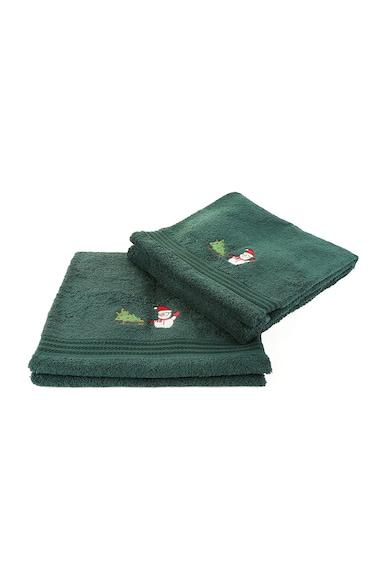 Leunelle Set de prosoape verzi cu broderie tematica - 2 piese Femei
