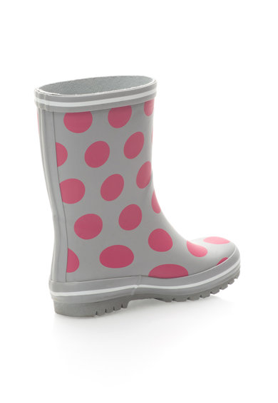 Colors of California Cizme de ploaie gri cu buline roz Baieti