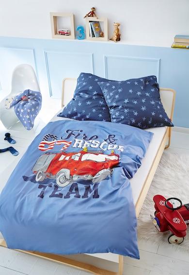s.Oliver Set de pat in doua nuante de albastru cu imprimeuri Femei