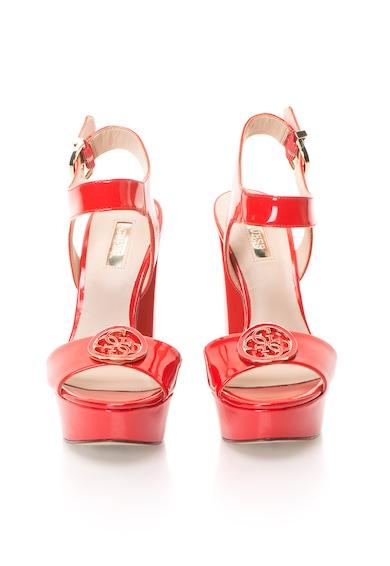 Guess Sandale rosii lacuite cu platforma Femei