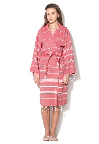 Leunelle Set de halat de baie si prosop rosu capsuna Sultan Femei