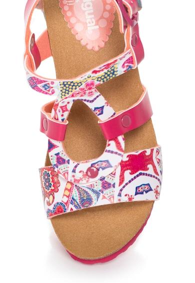 DESIGUAL Sandale wedge multicolore Hearts Femei