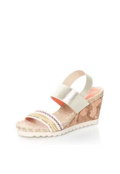 DESIGUAL Sandale wedge multicolore Ibiza Femei