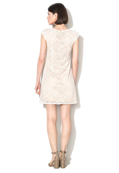Zee Lane Collection Rochie alb cu bej de dantela Femei