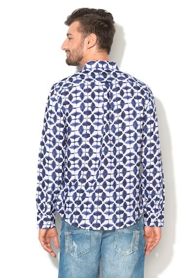 DESIGUAL Camasa albastru cu alb de in Jose Maria Barbati