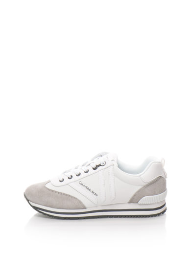 Calvin Klein Jeans Pantofi sport alb cu gri Evert Barbati