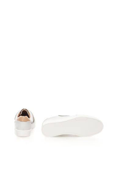 Calvin Klein Pantofi alb prafuit de piele cu velcro Issie Femei