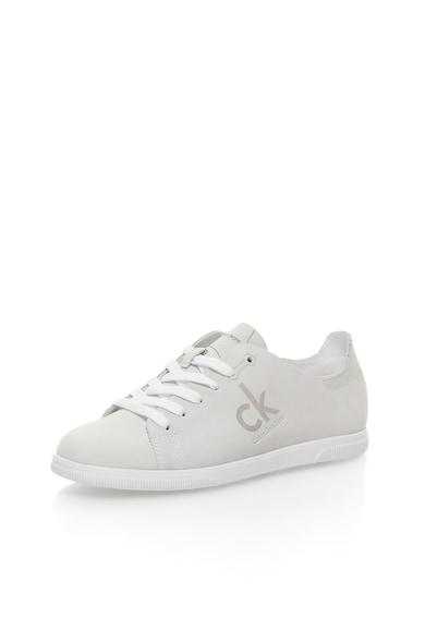 Calvin Klein Jeans Pantofi sport gri deschis de piele nabuc Sailor Femei