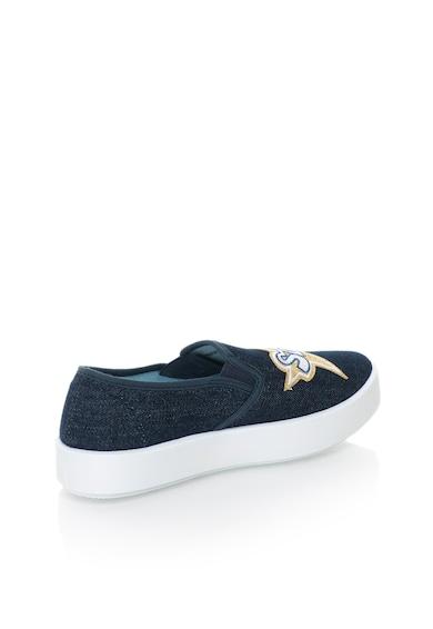 Blink Pantofi slip-on flatform din denim cu design cu aplicatii Femei