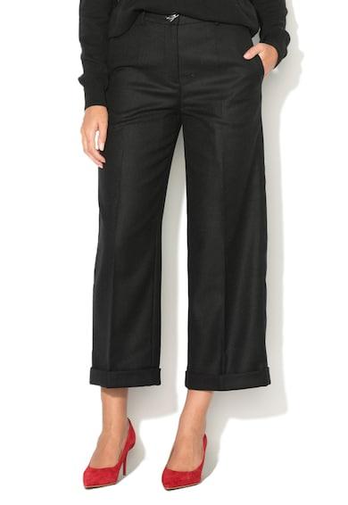 Love Moschino Pantaloni crop din amestec de lana Femei