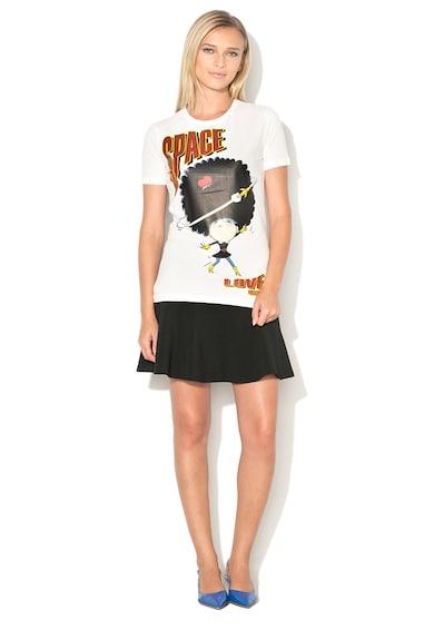 Love Moschino Tricou cu imprimeu cauciucat Femei