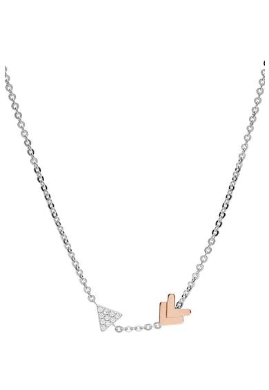 Fossil Colier argintiu cu pandantiv in forma de sageata Femei