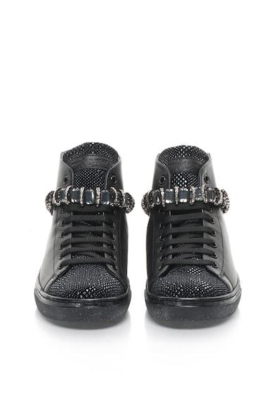 Tosca Blu Pantofi sport de piele cu strasuri Cervinia Femei