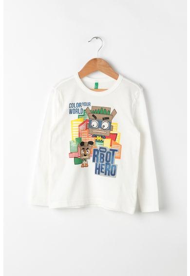 United Colors of Benetton Bluza de bumbac cu imprimeu Baieti