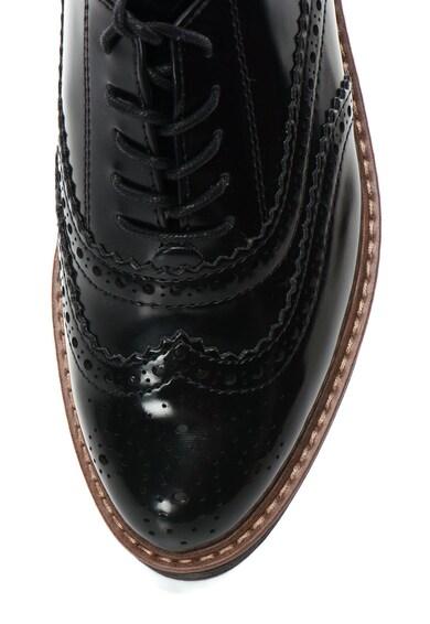 Marco Tozzi Pantofi brogue cu aspect lacuit Femei