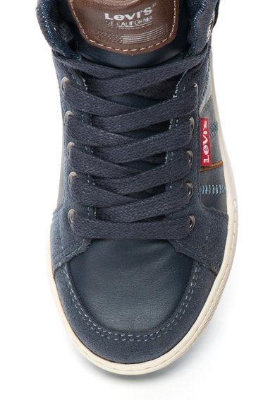 Levi's Pantofi sport inalti, cu insertii din denim Club Fete