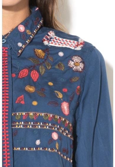 DESIGUAL Camasa din lyocell cu broderie Bruselas Femei