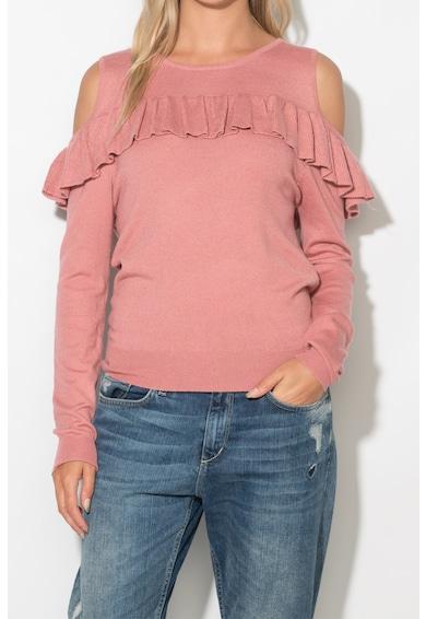 Zee Lane Bluza din tricot fin cu decupaje pe umeri Femei