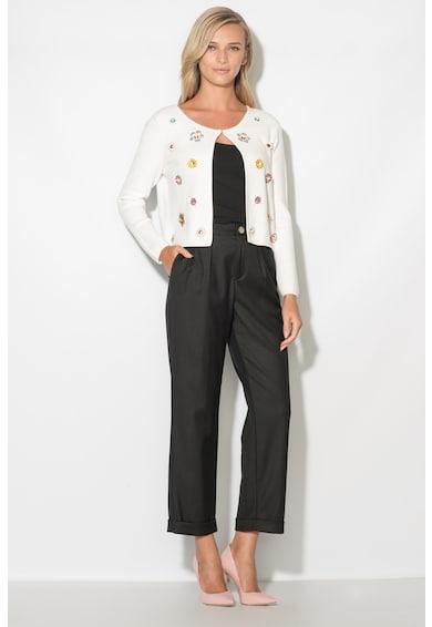 Zee Lane Cardigan din tricot fin cu aplicatii florale Femei