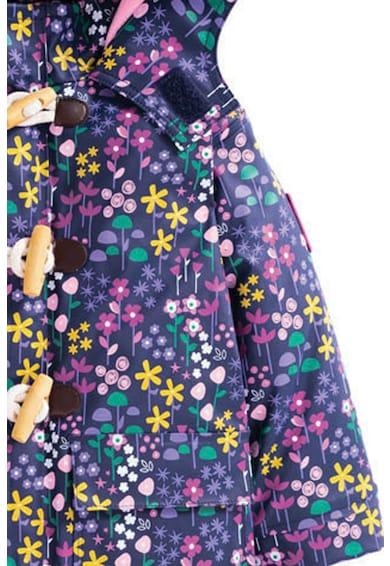 JoJo Maman Bebe Jacheta impermeabila cu imprimeu floral Fete