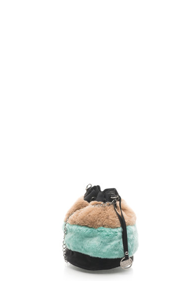 Gioseppo Geanta bucket cu segmente de blana sintetica Femei