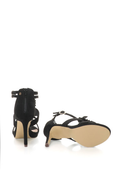 Bullboxer Sandale cu toc inalt si aplicatii in forma de frunza Femei