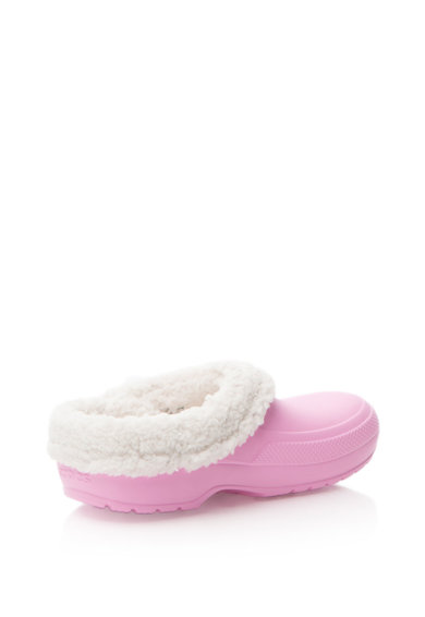 Crocs Saboti cu captuseala de blana shearling sintetica detasabila, Unisex Femei