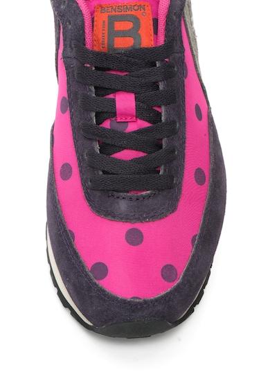 Bensimon Pantofi sport cu buline si detalii contrastante Femei