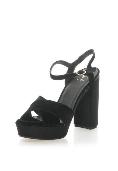 Versace 19.69 Abbigliamento Sportivo Sandale catifelate cu barete incrucisate Lolie Femei