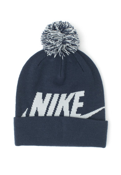 Nike Caciula din tricot fin cu ciucure detasabil, Unisex Fete