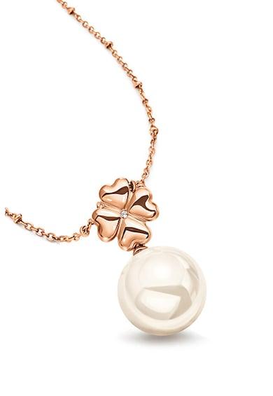Folli Follie Colier cu pandantiv si perla sintetica Femei