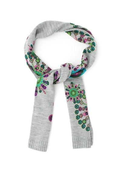DESIGUAL Esarfa tricotata cu model grafic Femei