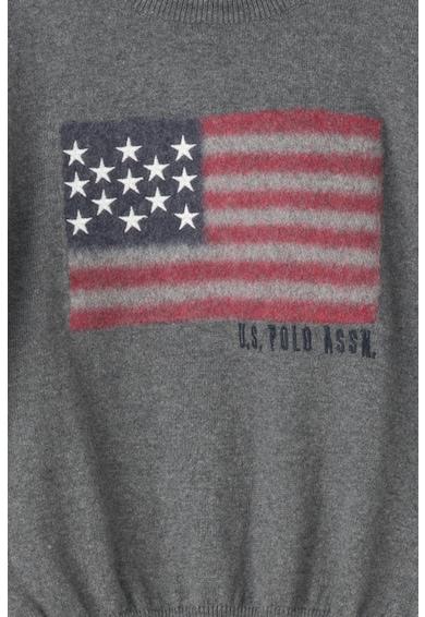 U.S. Polo Assn. Bluza tricotata cu imprimeu Baieti