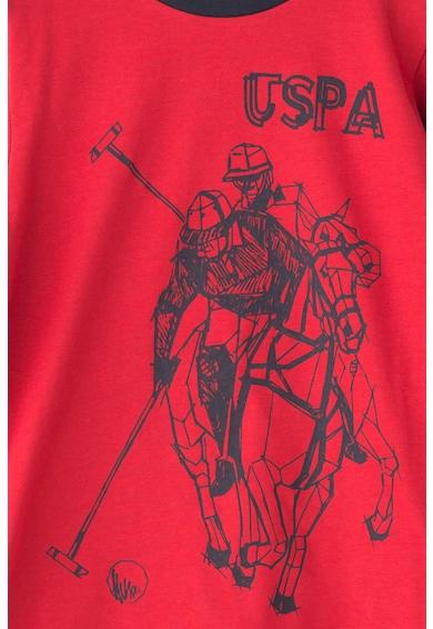 U.S. Polo Assn. Bluza cu decolteu striat Taglia Baieti