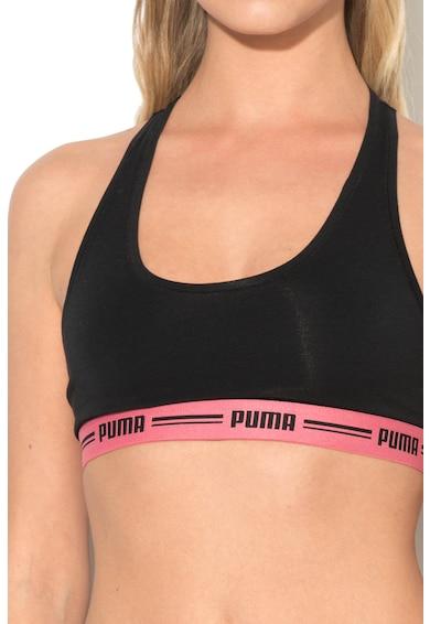 Puma Bustier cu spate decupat si cu banda elastica cu logo Femei