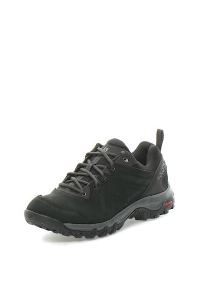 Salomon Pantofi sport de piele intoarsa cu garnituri textile, pentru drumetii Evasion 2 Barbati