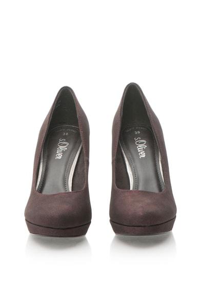 s.Oliver Pantofi de piele sintetica cu toc inalt Femei