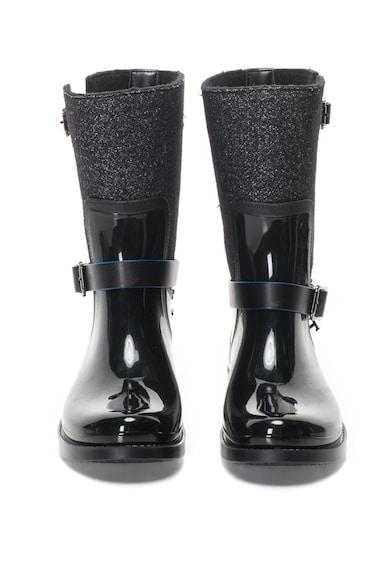 Trussardi Cizme de ploaie fara inchidere, cu segmente stralucitoare Femei