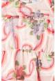 GUESS JEANS Rochie cu imprimeu floral si maneci tip aripioara Fete