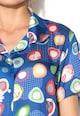DESIGUAL Camasa albastru royal cu imprimeu abstract Femei